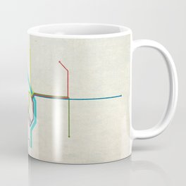 Minimal Portland, OR Metro Map Coffee Mug