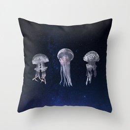 Flying Jellyfish Throw Pillow