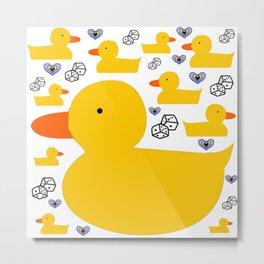 Ridiculously Fun Rubber Duckies: Classic Yellow Metal Print
