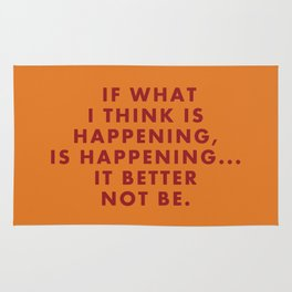 "Fantastic Mr Fox - ""If what I think is happening, is happening... it better not be."" Rug"