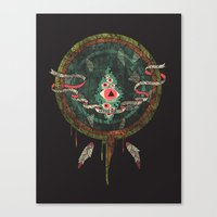 dream catcher Canvas Prints featuring Dream Catcher by Hector Mansilla