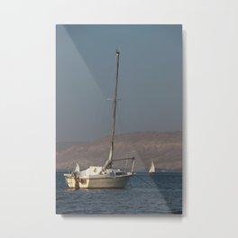 Boat in the sunlight Metal Print