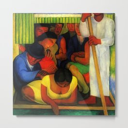 The Flowered Canoe by Diego Rivera Metal Print