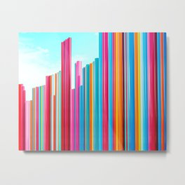 Colorful Rainbow Pipes Metal Print