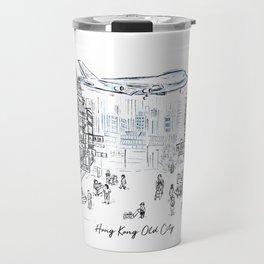 Hong Kong Old Kowloon City Travel Mug