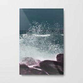 Navy Blue Sea Water Metal Print
