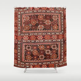 Luri Bakhtiari Khorjin Fragment Print Shower Curtain