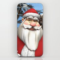 santa iPhone & iPod Skins featuring Santa by Design Windmill