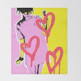 Graffiti Style Fashion Art Throw Blanket