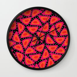 Shapes, Slices and Pips Wall Clock