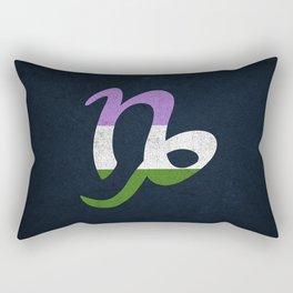 Genderqueer Pride Flag Capricorn Zodiac Sign Rectangular Pillow