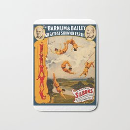 Vintage Barnum & Bailey Circus - Trapeze Bath Mat