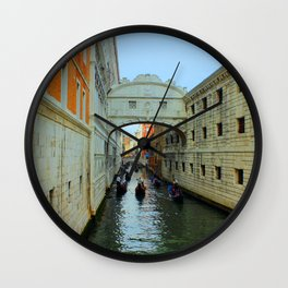 Bridge of Sighs, Venice, Italy,  in the late afternoon sun. Wall Clock