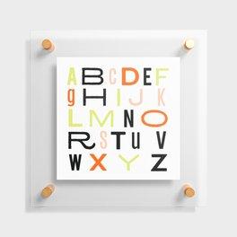 Eclectic Alphabet Floating Acrylic Print