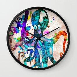Octopus Grunge Wall Clock