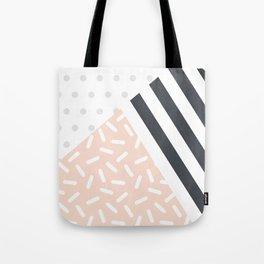 Random Geo - Dots Dashes and Stripes Tote Bag