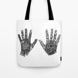 Hands of Contrast Tote Bag