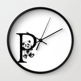 Letter Panda Wall Clock