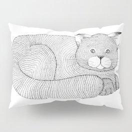 Fine-Lined Feline Pillow Sham