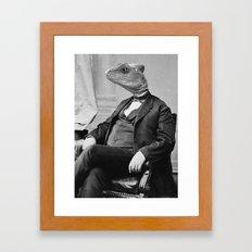 DR. LIZARD Framed Art Print