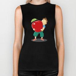 Apple For Teacher Biker Tank
