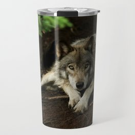 Intense Timber Wolf Travel Mug