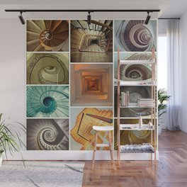 stairs stairs stairs collage Wall Mural