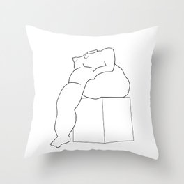 Drawing of a Botero statue, Medellin, Colombia Throw Pillow
