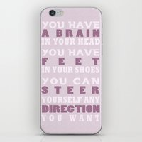 dr seuss iPhone & iPod Skins featuring Dr Seuss Quote by TayCee