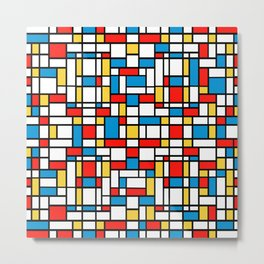Mondrian design, abstract pattern Metal Print