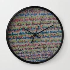 Handwriting on the Wall Wall Clock