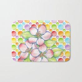 Apple Blossom Polka Dots Bath Mat