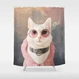 Fashion Portrait Cat Shower Curtain