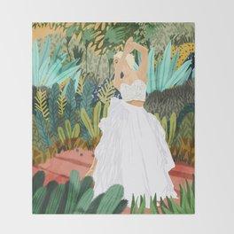 Forest Bride Throw Blanket