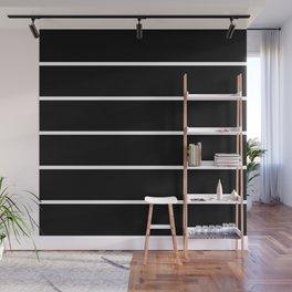 Black White Pinstripes Minimalist Wall Mural