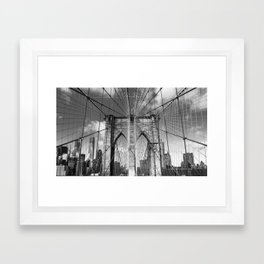 Brooklyn Bridge New York City Framed Art Print
