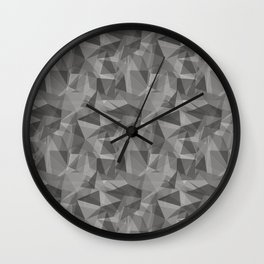 Abstract Geometrical Triangle Patterns 3 Benjamin Moore 2019 Trending Color Cinder Dark Gray AF-705 Wall Clock