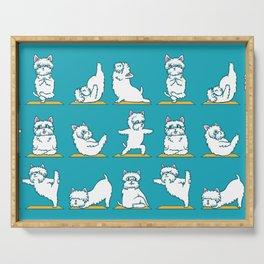 West Highland Terrier Yoga Serving Tray