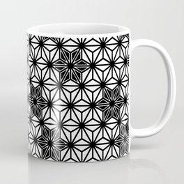 Japanese Asanoha or Star Pattern, Black and White Coffee Mug