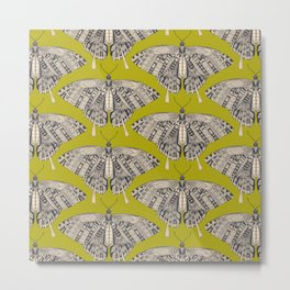 swallowtail butterfly citron basalt Metal Print