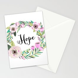 Hope Lettering Watercolor Ilustration Stationery Cards