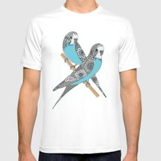 Budgies Mens Fitted Tee MEDIUM White