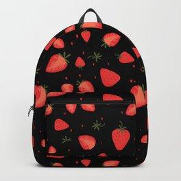 Strawberry Vintage Fruit Pattern Backpack