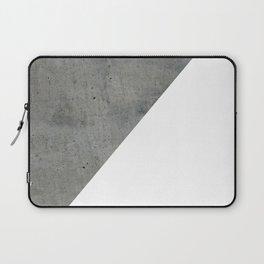 Concrete Vs White Laptop Sleeve