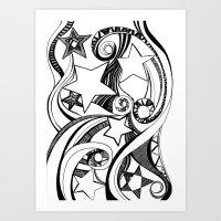 starry night Art Prints featuring Starry starry night by OhMyDodd Designs