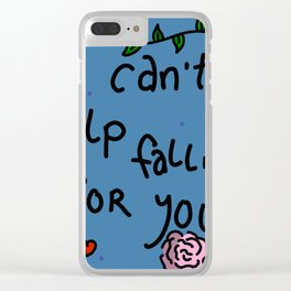 I Can't Help Falling For You | Veronica Nagorny Clear iPhone Case