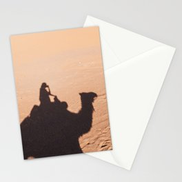 Camel shadow silhouette in Merzouga desert, Morocco photography print Stationery Cards