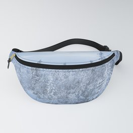 Winter forest in the Mountains Fanny Pack