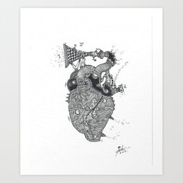 Emotional Sound Art Print