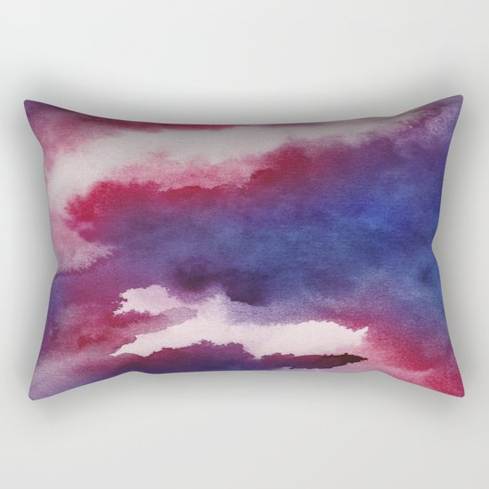 Clouds - abstract watercolor 01 Rectangular Pillow